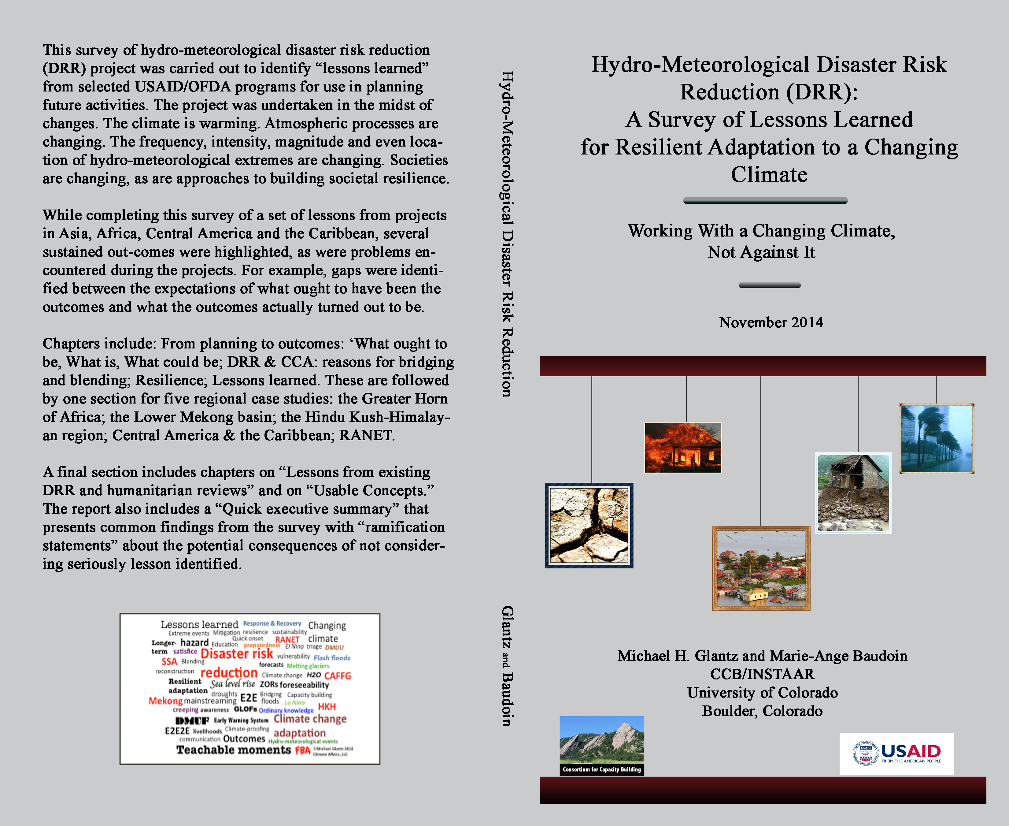 """Full report of """"Working with a Changing Climate, Not Against It : Hydro-Meteorological Disaster Risk Reduction"""""""