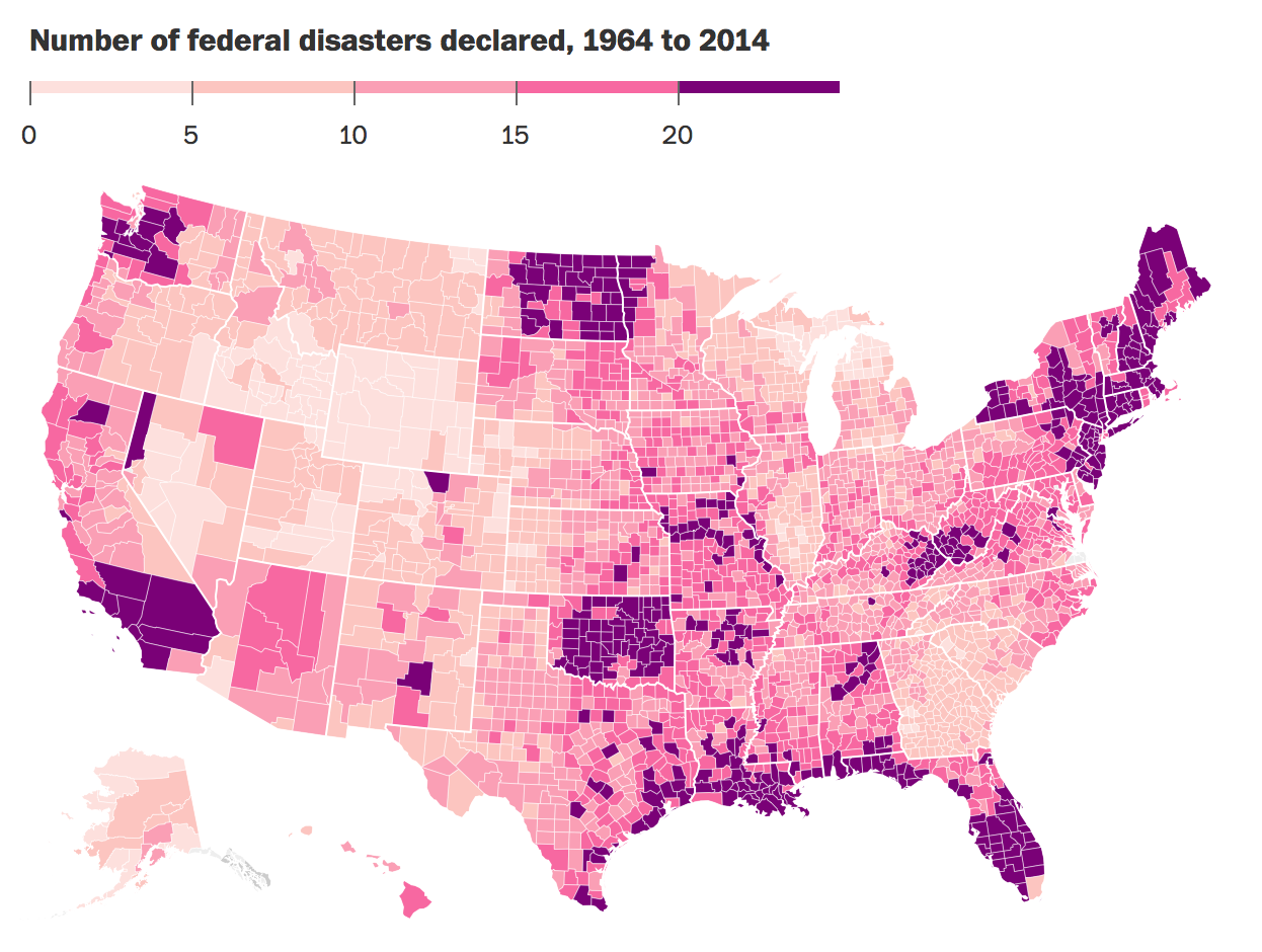Earthquakes, floods and volcanoes: The most disaster-prone places in America