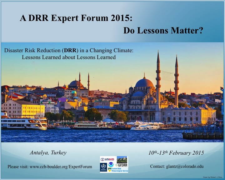 DRR Expert Forum 2015 Antalya Statement