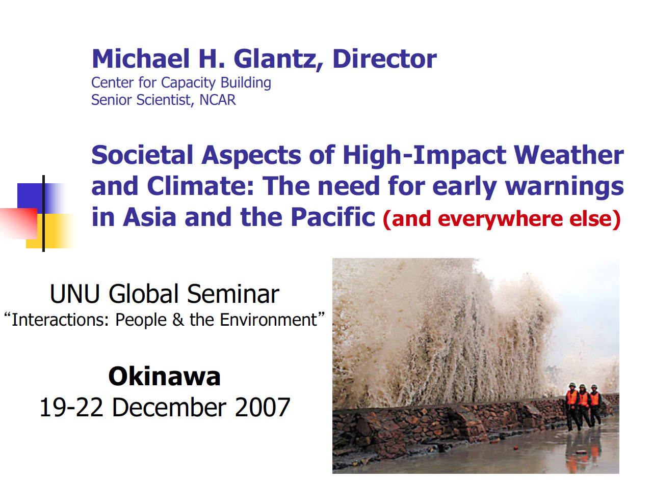 Societal Aspects of High-Impact Weather and Climate